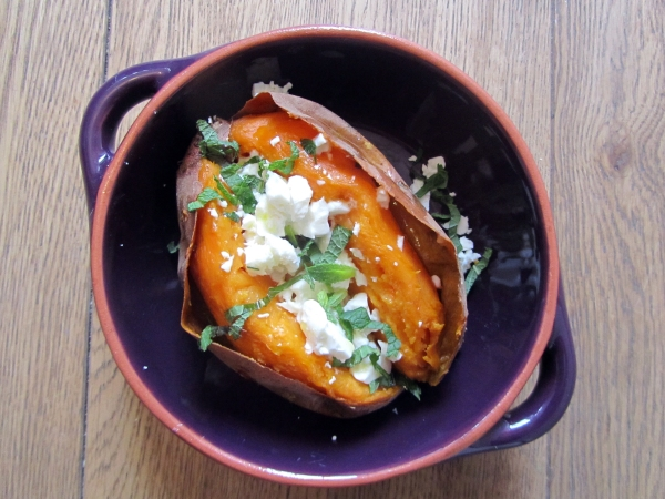 Healthy Foodie Baby_Sweet potato with feta and mint