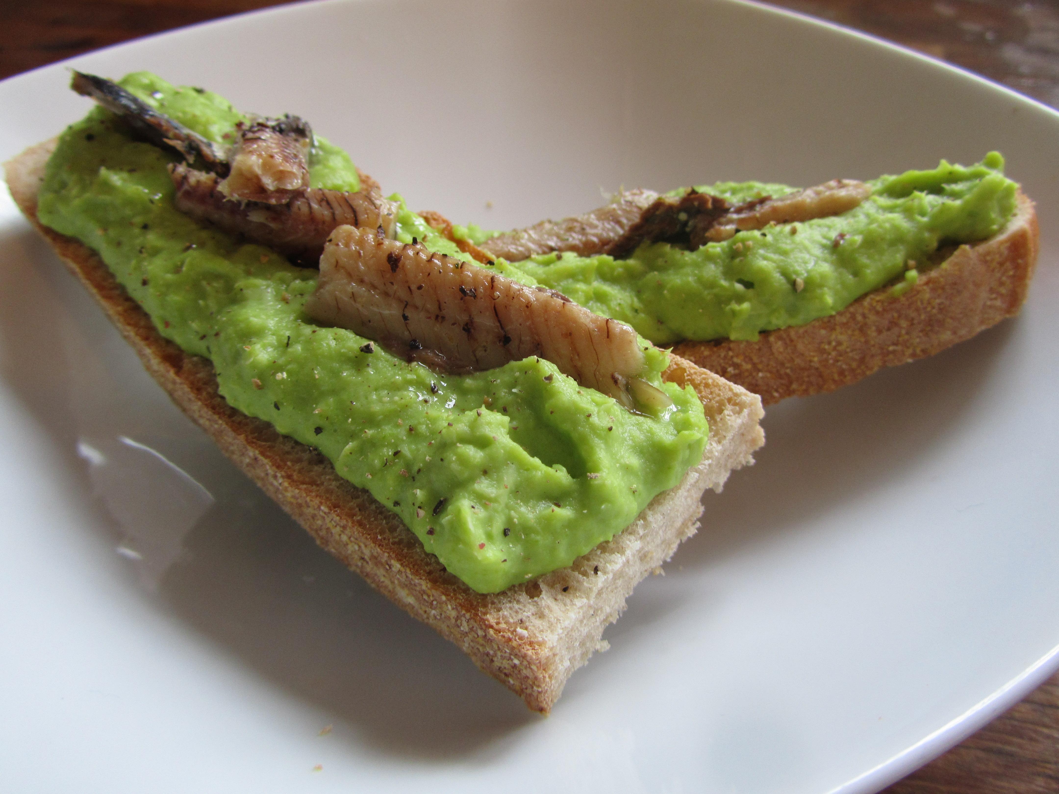 Healthy Foodie Baby Broad Bean Puree And Sardines On Toast 2