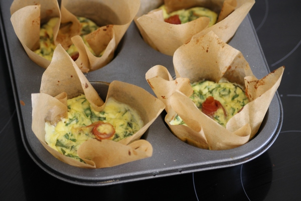 Crust-free spinach and ricotta quiche@ healthy foodie baby