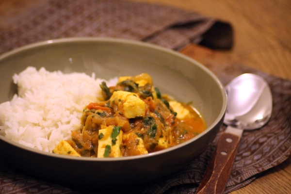 Baby friendly curry with paneer and spinach @healthyfoodiebaby2