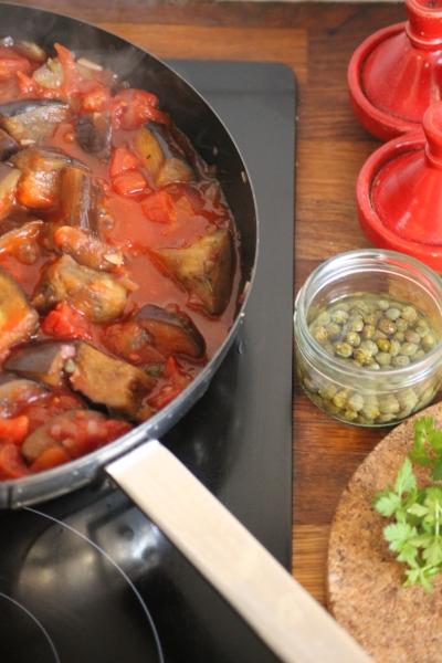 Caponata Aubergine Stew@ healthyfoodiebaby.com