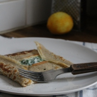 Buckwheat pancakes with Ricotta & Spinach (Galettes de Sarrasin)