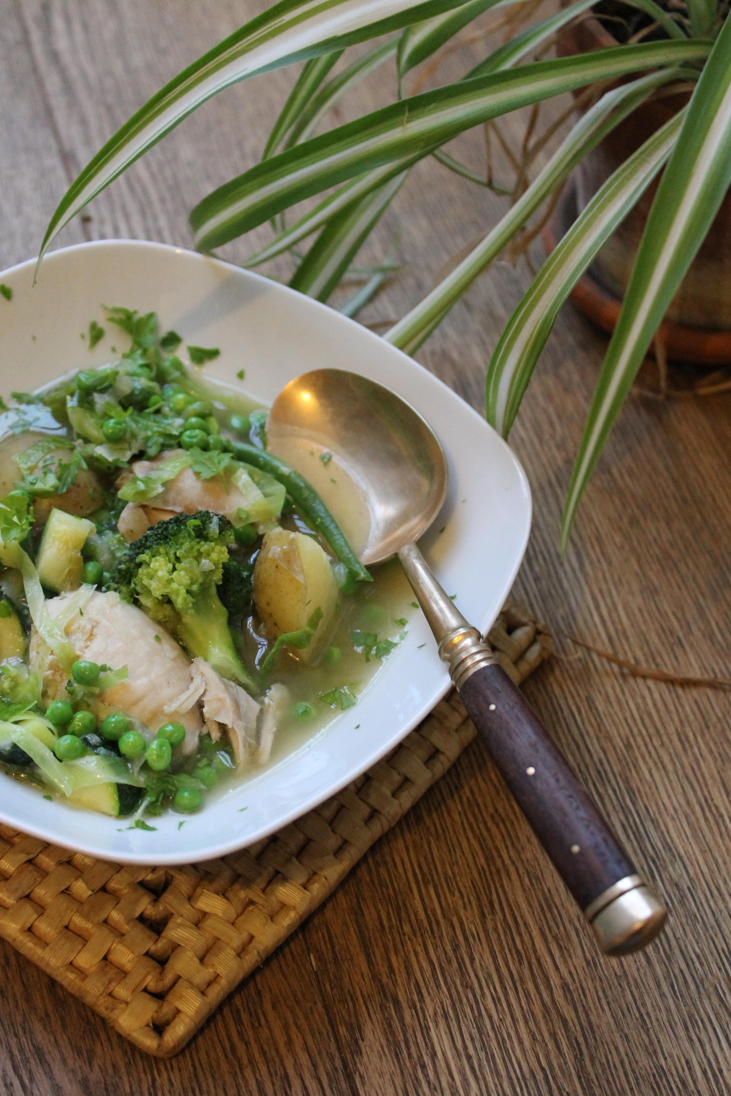 Spring vegetable & Chicken Stew @ healthyfoodiebaby
