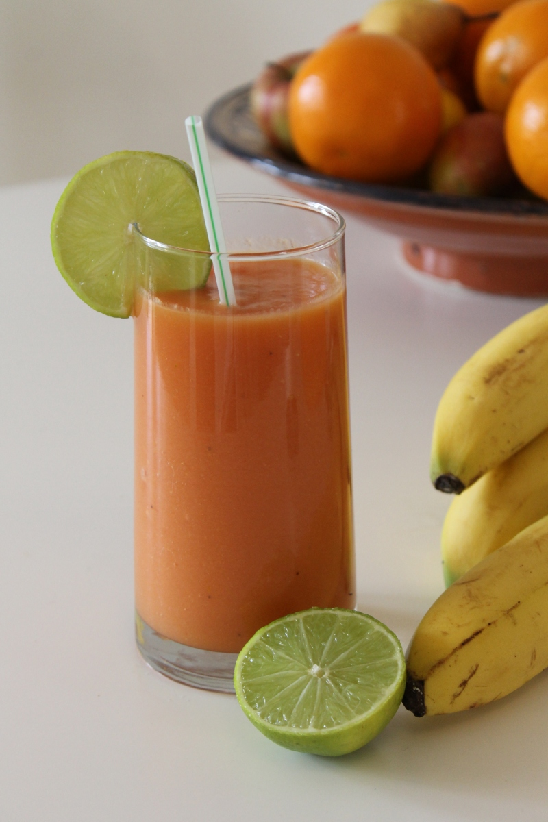 Papaya & Banana Smoothie