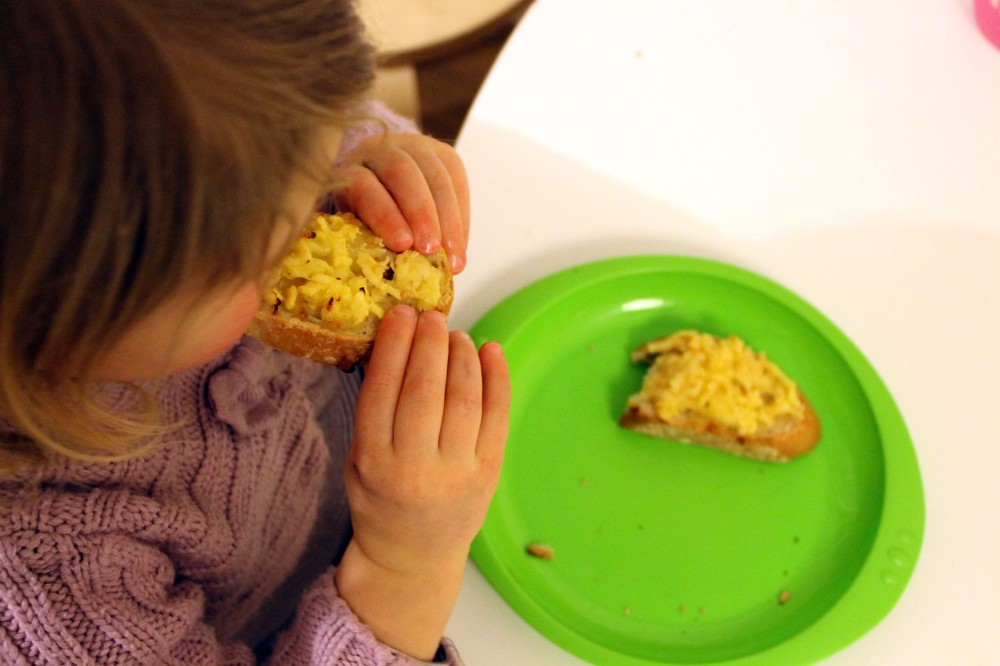 Apple& cheese on toast @ healthyfoodiebaby