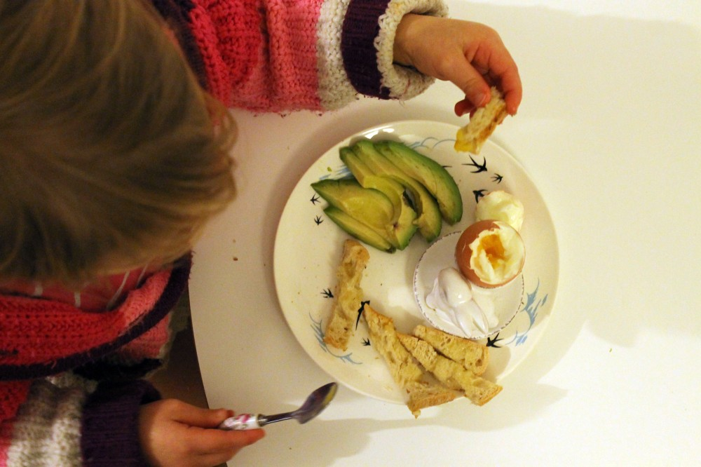 Egg soldiers & Avocado @ healthyfoodiebaby