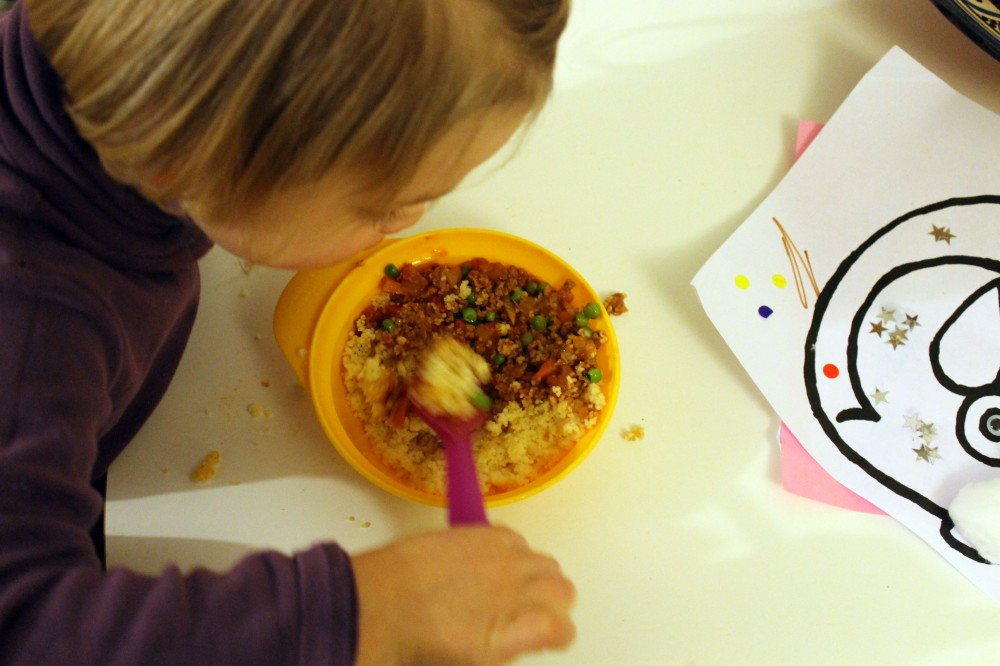 Minty Quorn & peas with Couscous @ healthyfoodiebaby