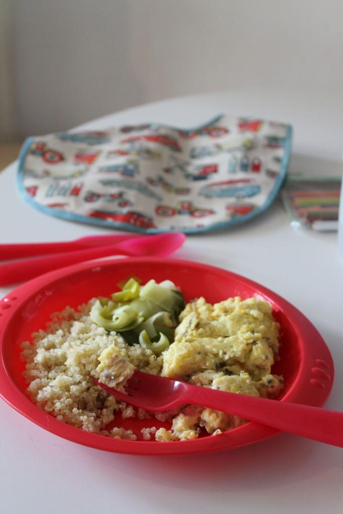 Omelette & Quinoa @ healthyfoodiebaby