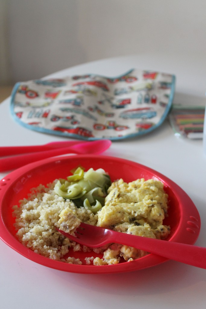 Omelette & Quinoa @ healthyfoodiebaby