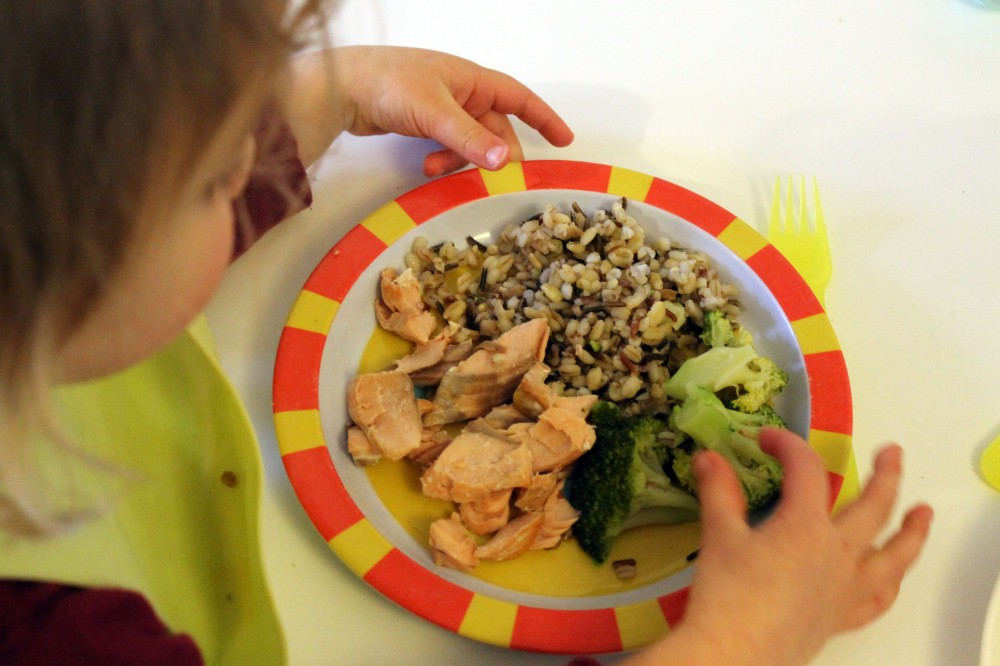 Quick Seven grain & salmon @ healthyfoodiebaby