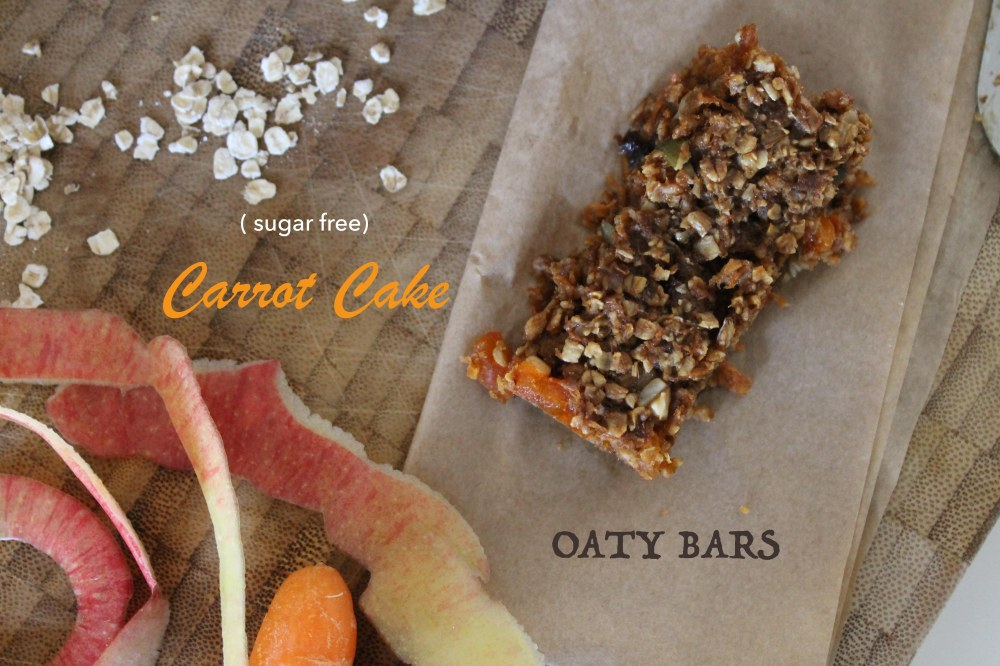 Carrot cake oaty bars@ healthyfoodiebaby