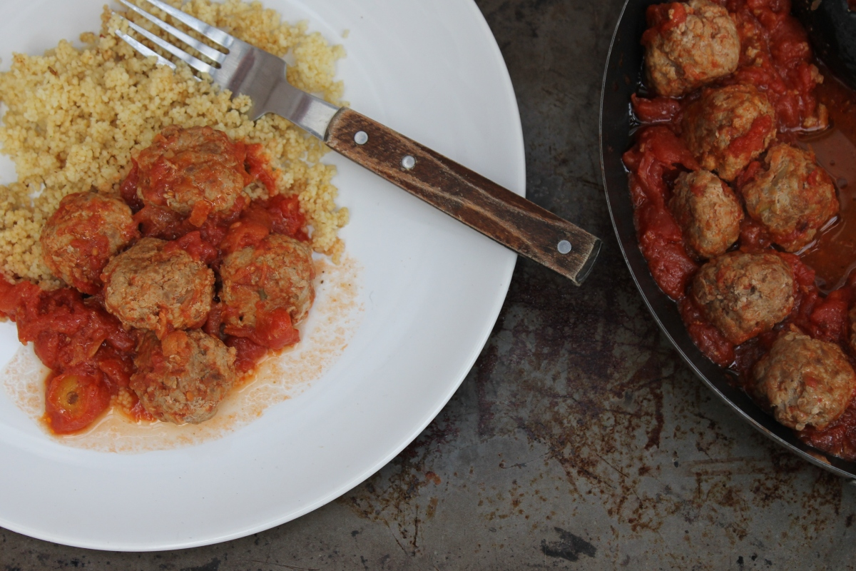 Mild Moroccan Turkey Meatballs and Couscous